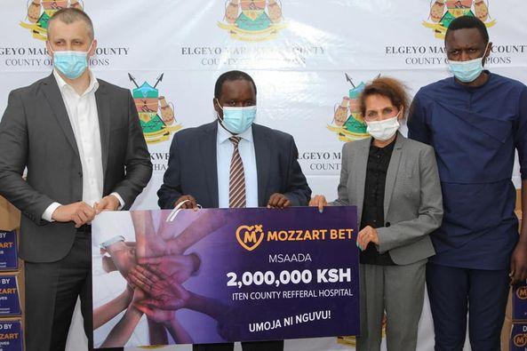 Mozzart donates sh 2 million PPEs to Iten Referral Hospital